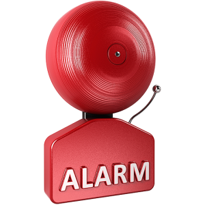 One of many alarms in Clumpany Towers