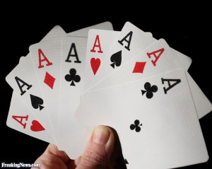 All the Aces. And some spares. Just in case...
