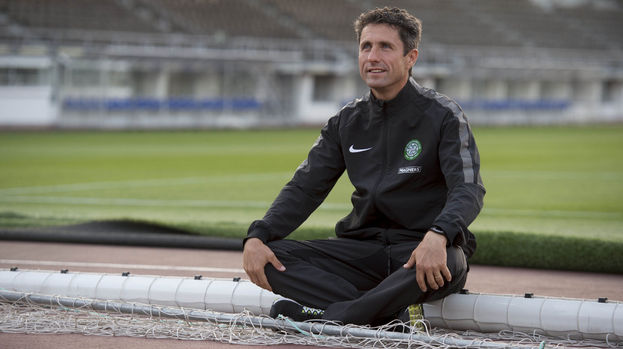 Training is so tough at Celtic that players must limbo dance under that crossbar before they can go home