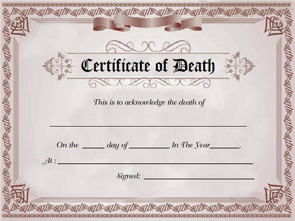 Free-death-certificate-template-download