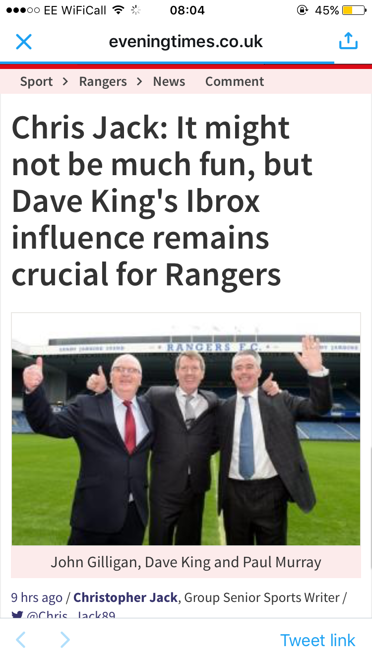Dave King: Reluctant Hero